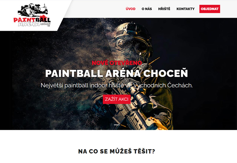 Paintball arena Chocen