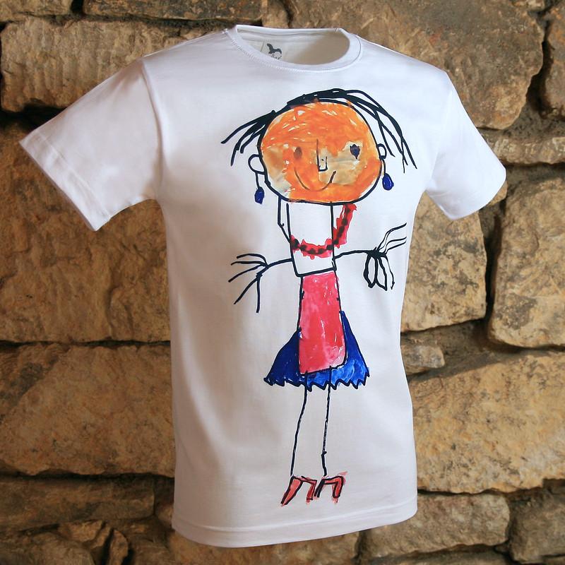 Přímý potisk textilu - dětská malůvka