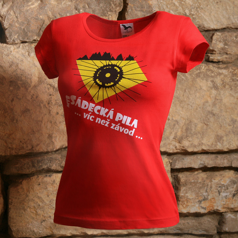 Přímý potisk textilu - triko s logem