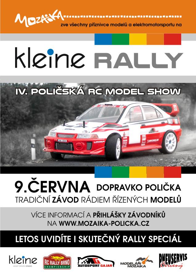 Plakát Kleine RALLY 2018 Dopravní hřiště Polička